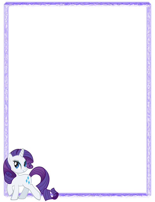 My Little Pony: Geniales bordes decorativos de hojas de My Little Pony