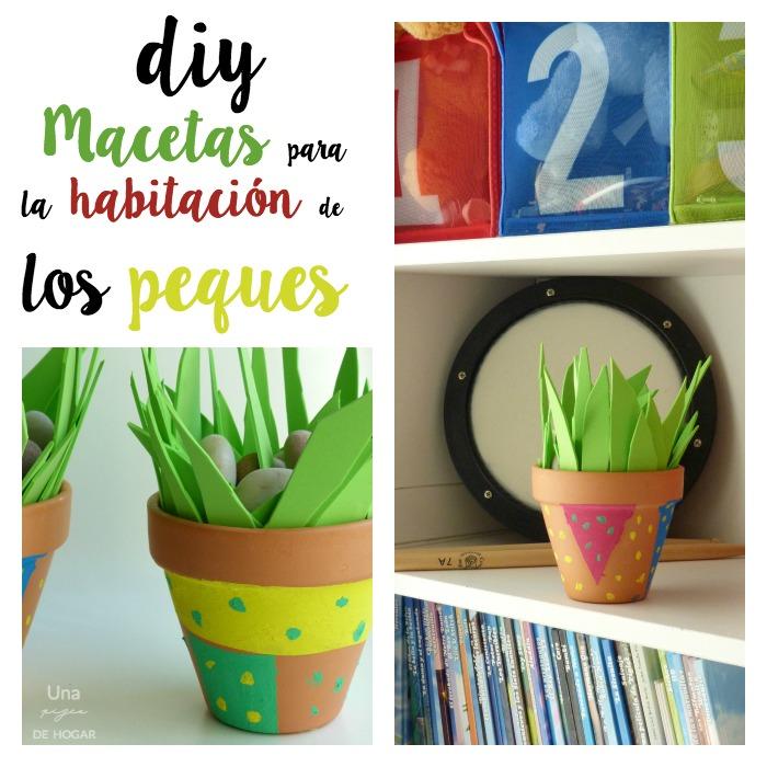 Una pizca de hogar c mo decorar macetas con ni os diy - Decoracion con macetas ...