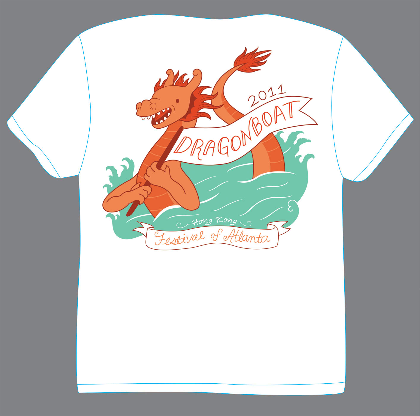 Heather lund illustration dragonboat festival of atlanta for T shirt design festival