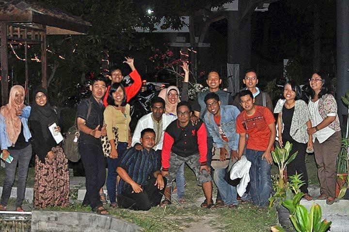 Peserta grup Bara-bere saat kopdar di Jogja