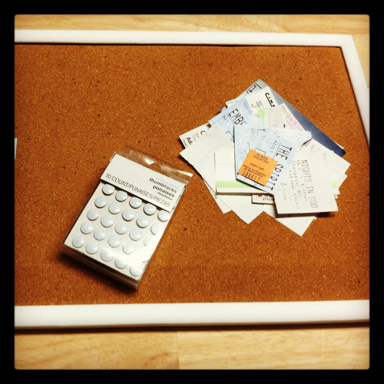 graceadkinsdesigns how to make your own movie ticket cork board
