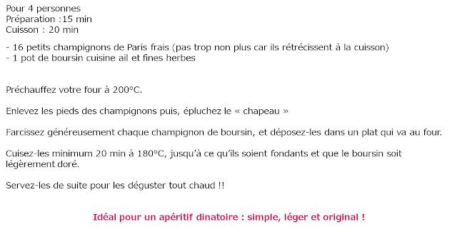 image recette Champignons de Paris farcis au boursin