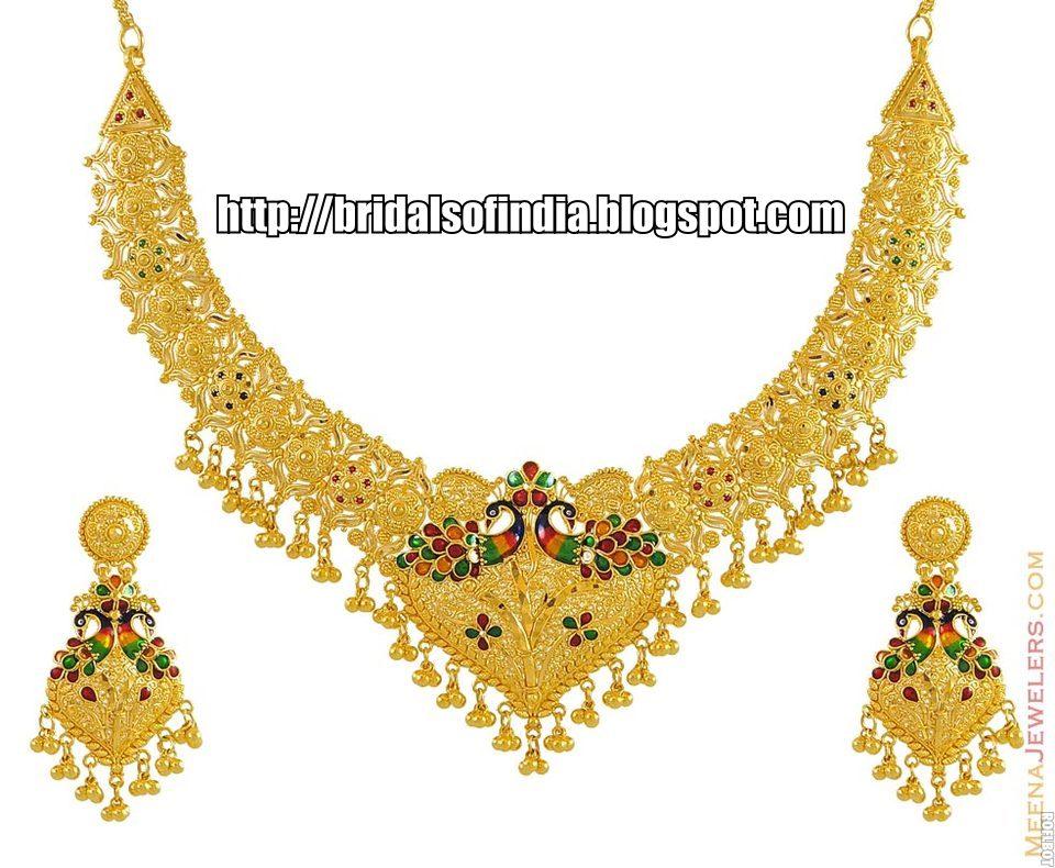 Fashion world: Gold necklace new design