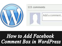 adding facebook comment box in wordpress