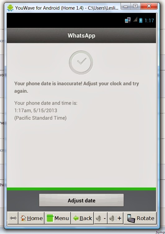 """Android : Solve WhatsApp """"Your phone date is inaccurate! Error"""