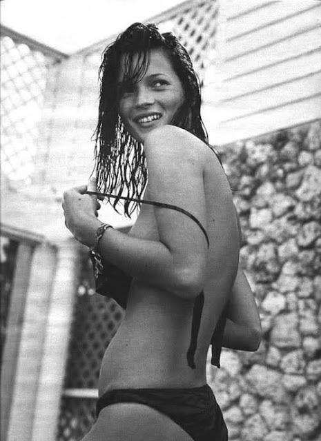 Черно-белая фотография Кейт Мосс (Kate Moss)