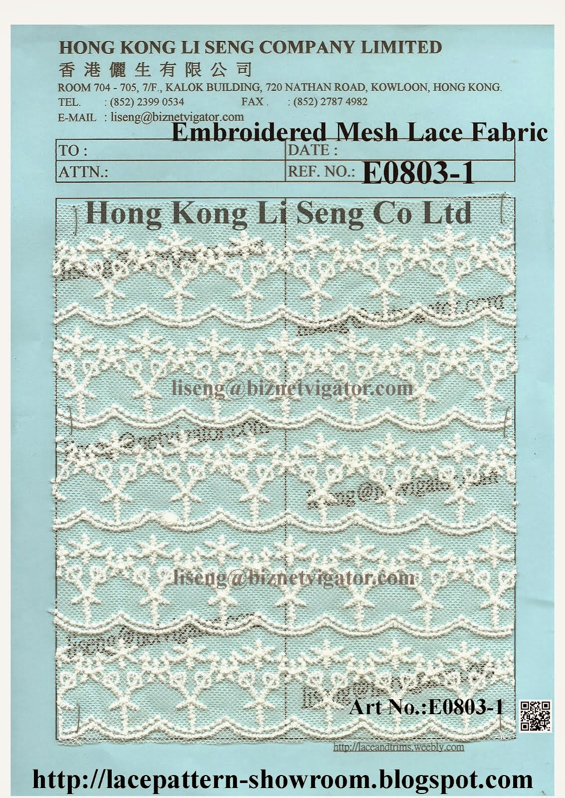 Embroidered Mesh Lace Fabric Wholesale Manufacturer Supplier - Hong Kong Li Seng Co Ltd