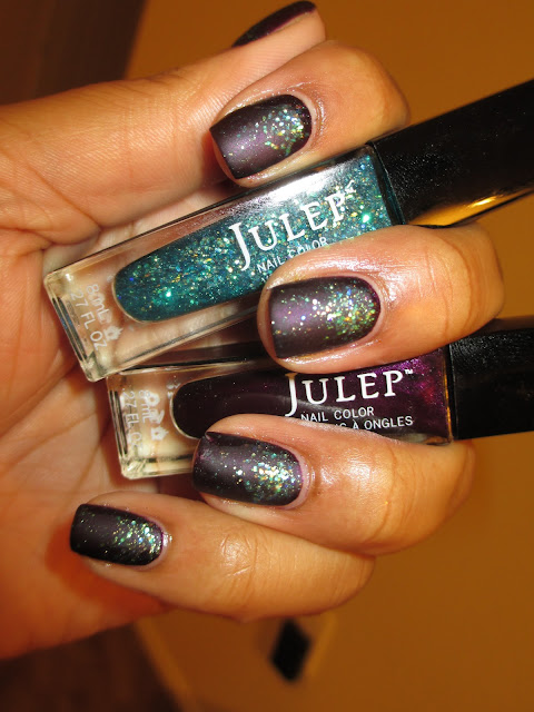 Julep, Trina, Harper, glitter gradient, nail art, nail design, mani