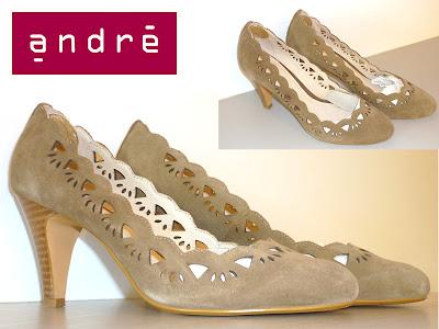 chaussures escarpins beige ANDRE neuve