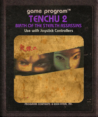 Ninja Game Atari Cartucho 2600 Fita Classic Tenchu PS1 Retro Japan Art