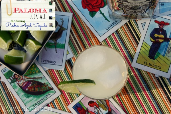 Paloma Cocktail ft. Piedra Azul Tequila | www.girlichef.com