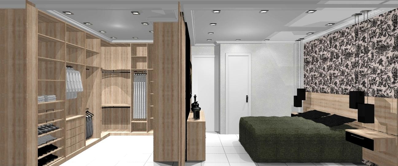 Quarto De Casal Com Suite E Closet ~ Oggi Arquitetura e Ambienta??o Apartamento Jovem Casal