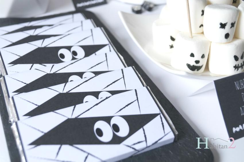 Chocolatinas personalizadas para Halloween, diseño de Habitan2