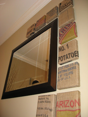 Burlap Potatoe Sack Wall Art