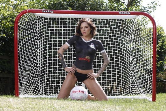 Ayr United unveil new kit with topless model in body-paint (NSFW)
