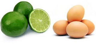 mặt nạ đậu đỏ + lòng trắng trứng + nước chanh