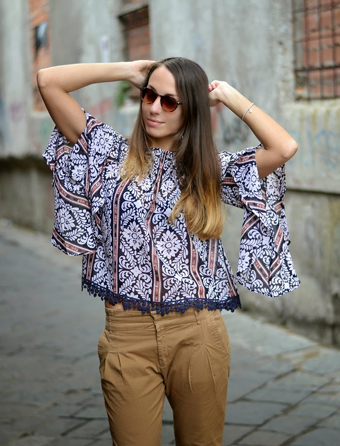ax-paris ethnic blouse