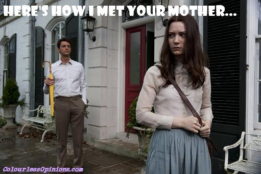Stoker Mia Wasikowska & Matthew Goode yellow umbrella how i met your mother meme