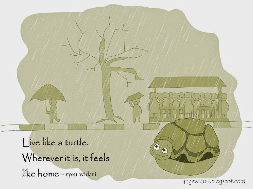 illustration-life-quotes-live-like-turtle-digital-art