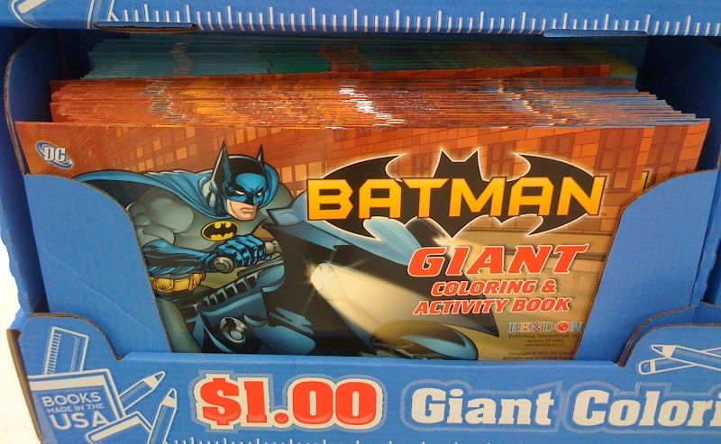 New BATMAN Gumball Machines Coloring Book