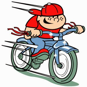 Boy On Bike Clip Art