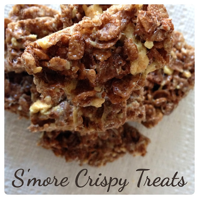 S'more Rice Crispy Treat #Recipe