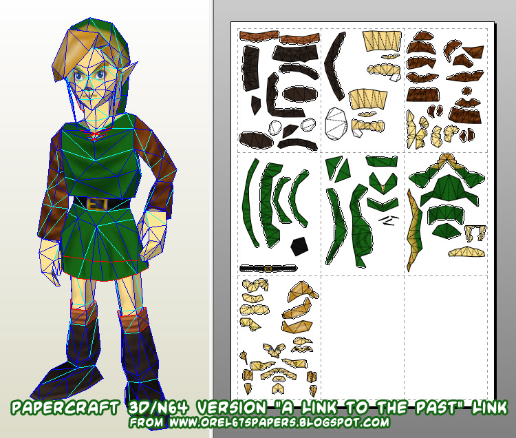 orel67 made a 3dn64 version of link from the legend of zelda a link to the past o