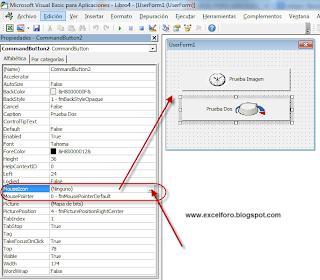 VBA: Añadir imágenes a los controles de Excel.