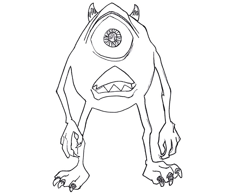 #3 Monsters University Coloring Page
