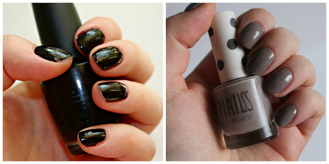 OPI Lincoln Park After dark, Topshop big smoke