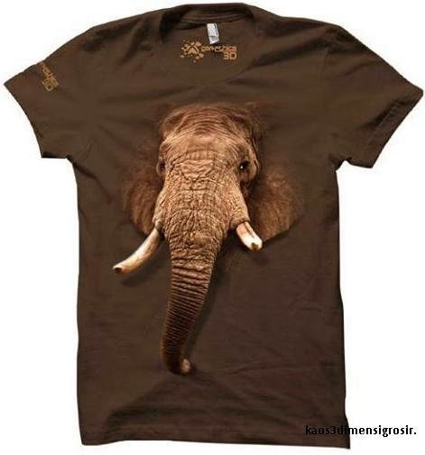 kaos 3d elephant