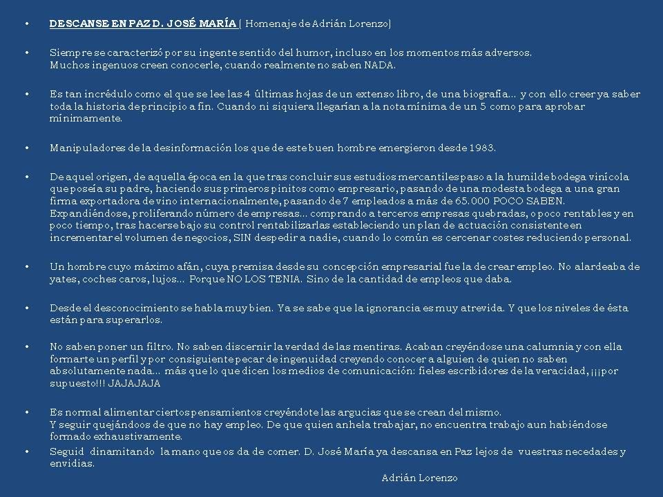 Descanse en Paz D. José María