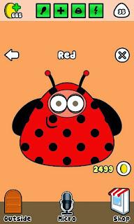 Nuevo outfit ladybug Pou