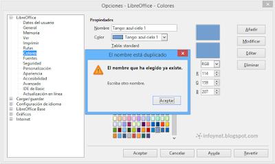 Añadir un color nuevo a LibreOffice