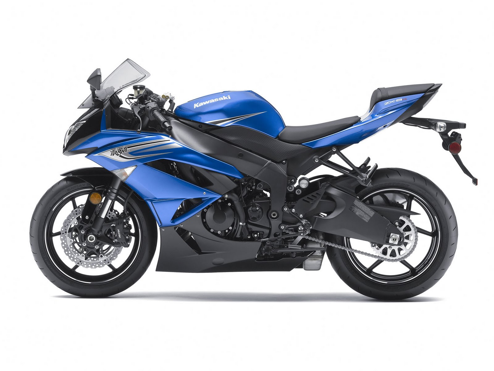 kawasaki ninja zx 6r blue wallpapers - Kawasaki Ninja ZX 6R Blue Wallpapers HD Wallpapers