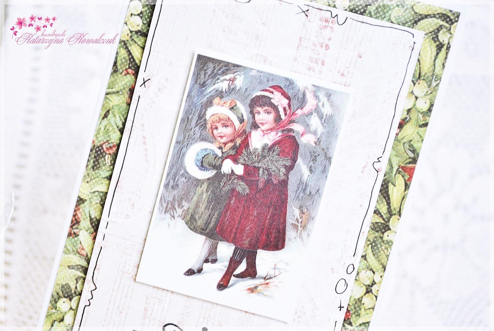 Kartka Świąteczna scrapbooking