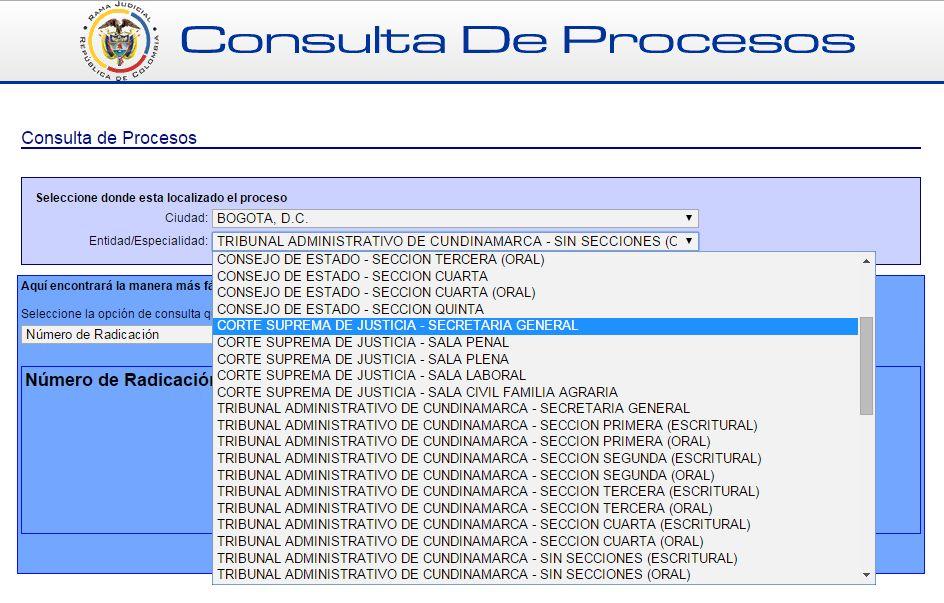CONSULTAS RAMA JUDICIAL