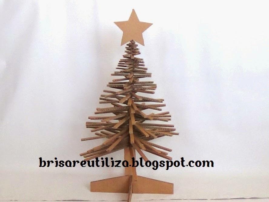 Ecobrisa diy arbol de navidad de carton - Como hacer un arbol de navidad de carton ...