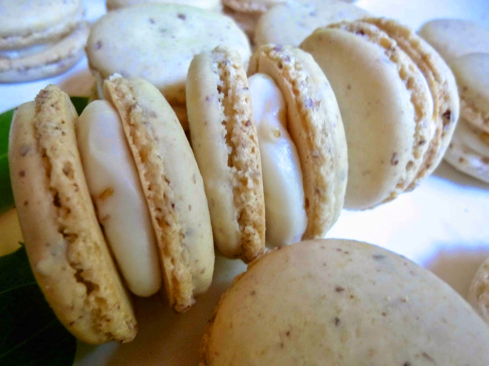Vanilla French Macarons with Honeysuckle Buttercream Filling