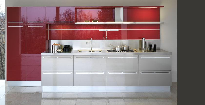 Decoración de Cocinas en color Rojo - Kansei Cocinas | Servicio ...