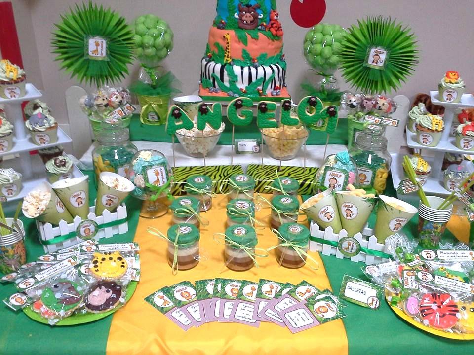 Cumpleaños temático animales selva