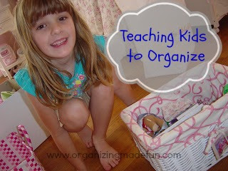 Teaching kids to Organize and De-clutter | OrganizingMadeFun.com