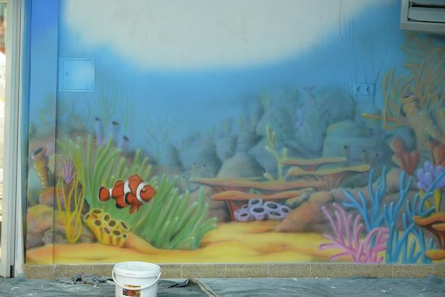 Aranżacja basenu poprzez malowanie