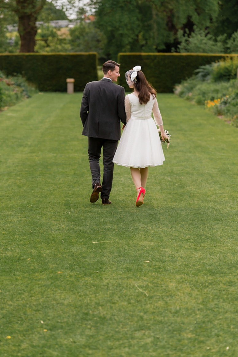 English hedge wedding