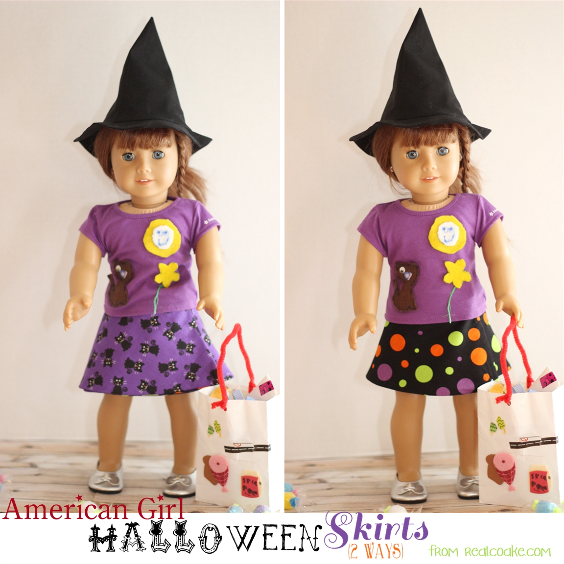 Halloween Doll Skirts - 2 ways
