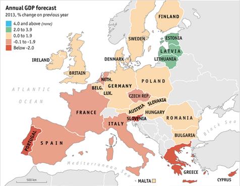 Europos BVP prognozė