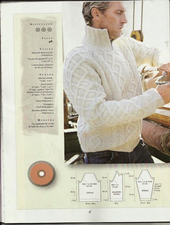 #119 Suéter Hombre a Dos Agujas o Knitting