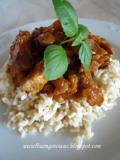 Stir-fry z wieprzowiną i chili
