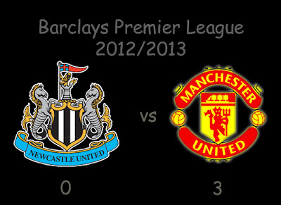 Newcastle United v Manchester United Result Barclays Premier League 2012