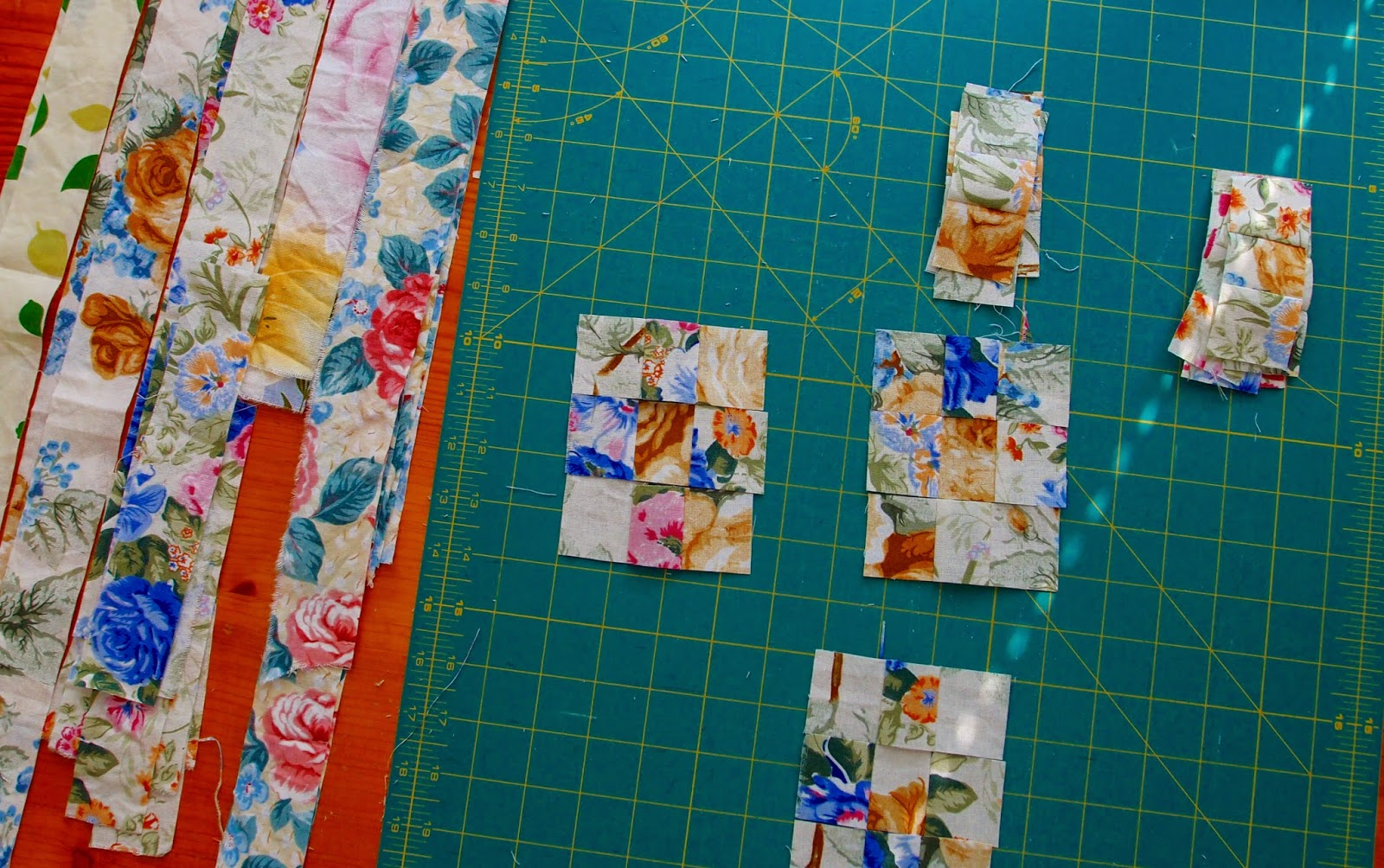 Watercolour quilt blocks